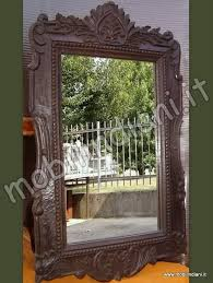 specchi con cornice specchi cornici mirror specchio indiano cornice intagliata