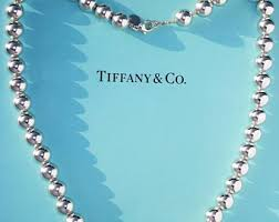 silver beads necklace tiffany images Tiffany necklace etsy jpg