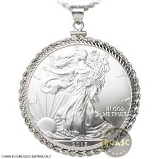 silver coin jewelry necklace images Buy sterling silver coin bezel pendant 1 oz silver eagle 40 6mm jpg
