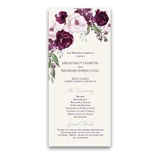 purple wedding programs custom wedding program archives noted occasions unique and