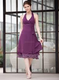 a linie one shoulder trager knielang chiffon brautjungfernkleid p651 taffeta strapless knee length a line bridesmaid dress with sash