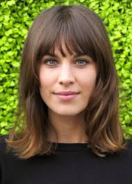 female recede hairline hairstyles with bangs alexa chung her forehead is lower than mine and i have a high