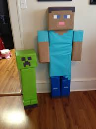 minecraft wrapping paper steve and creeper from minecraft misc sized boxes wrapping paper