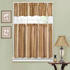 traditions by waverly stripe ensemble kitchen curtain and valence