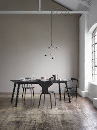 decordots modern dining room lack table and chairs warm grey dark