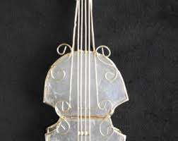 violin ornament etsy