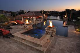 pool and outdoor kitchen designs designs brick paver showroom of tampa bay