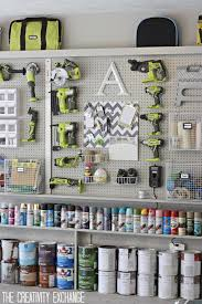 decoration diy pegboard garage organization ideas for small and