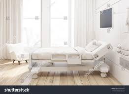 side view hospital ward bed tv stock illustration 604495994