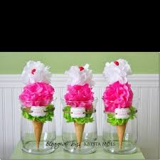 Homemade Table Centerpieces For Parties by 14 Best Ice Cream Centerpieces Images On Pinterest Ice Cream