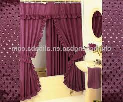 Double Swag Shower Curtain With Valance Burgundy Gold Daphne Shower Curtain Shower Curtains Burgundy