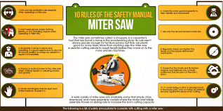 Dewalt Wet Tile Saw Manual by Infographic On Miter Saw Safety Manual 10 Rules Biggest Review