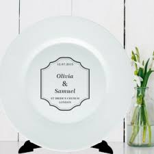 and groom plates personalised plate classic wedding and groom wedding