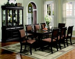 Traditional Dining Room Furniture Sets Crown 2145 Merlot 11 Pieces Traditonal Dining Table Set