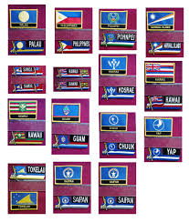 Saipan Flag 2018 Saipan Flag Embroidery Patch Embroidery Badge Iron On Patch
