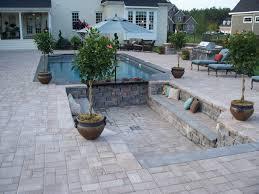 pool patio pavers exterior design inspiring outdoor garden design with cozy