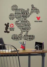 rmk2073gm typographic mickey mouse giant wall decals the wall shop rmk2073gm black wall stickers wall decor wall decals typographic mickey mouse silhouette self adhesive roommates