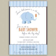 our little peanut elephant printable baby shower invitation