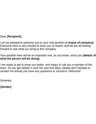 Business Email Template Sle Welcome To A New Employee Template