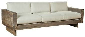 Modern Sofa Chair Magic Exposed Wood Frame Sofa Minimalist Simple Modern With Wooden