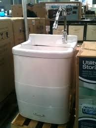 laundry sink cabinet costco spotted utility sink with built in storage utility sink sinks