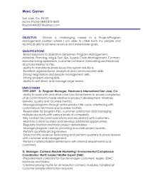 Supply Chain Manager Resume Example by Sample Objectives For Marketing Resume 16 It Officer Resume