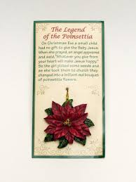 the legend of the poinsettia ornament with story card
