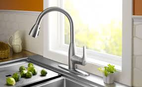 brushed nickel faucet with stainless steel sink best brushed nickel kitchen faucets apoc by elena
