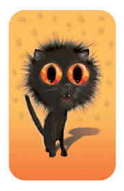 don t be a scaredy cat greeting card printable card