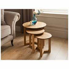 round oak end table awesome small end table of tilbury nest of tables 3 piece tilbury