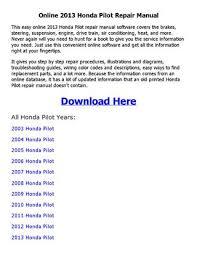 2012 honda pilot manual 2013 honda pilot repair manual by akosipriix issuu