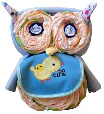 kidselle i will make a diaper cake oliver the owl for your