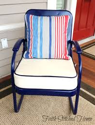 upholstered cushions for a vintage metal porch set faith