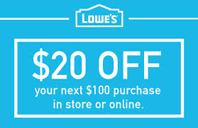 lowe s lowes 20 off 100 printable coupon delivered instantly to your