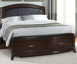 avalon bedroom set furniture avalon king leather platform storage bed in dark truffle