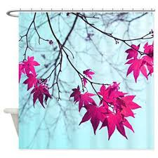 Mint Blue Curtains Aqua Shower Curtain Mint Blue Magenta Pink By Ourartcloset On Etsy