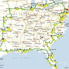 map usa southeast map of south east coast map of usa