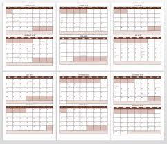 printable 2017 calendar two months per page free blank calendar templates smartsheet