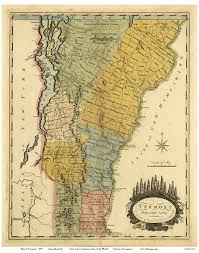 Map Vermont Doolittle Map Of Vermont 1814