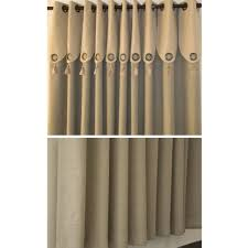 casual ivory faux linen blackout energy saving curtains buy