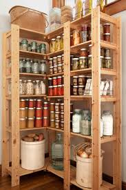 decor brown wooden pantry organizer for home decoration ideas