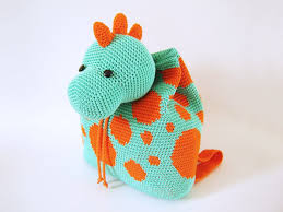 crochet pattern for dino backpack cute and practical