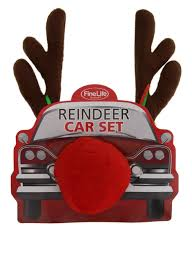 reindeer antlers for car reindeer car costume set antlers nose easy to install