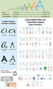 lyrical letters font cricut cartridge cricut cartridges