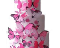 Wedding Cake Topper Edible Butterfly Wedding Decorations