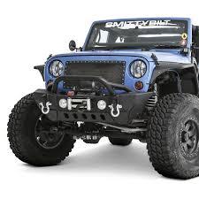 jeep prerunner bumper smittybilt jeep wrangler 2007 2018 xrc gen2 mid width black