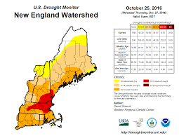 New England State Map by New England Watershed Drought Monitor