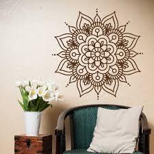 Lotus Flower Wall Decal Om by Mandala Wall Decals Bedroom Yoga Wall Decal Vinyl Sticker