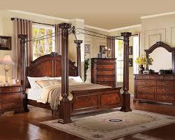 acme bedroom set in walnut roman empire iii ac23340set