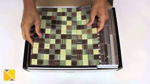 diy backsplash peel and stick glass tile kit review youtube